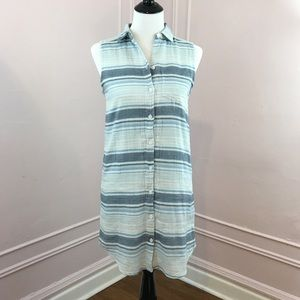 Beach Lunch Lounge Button Down Shift Dress
